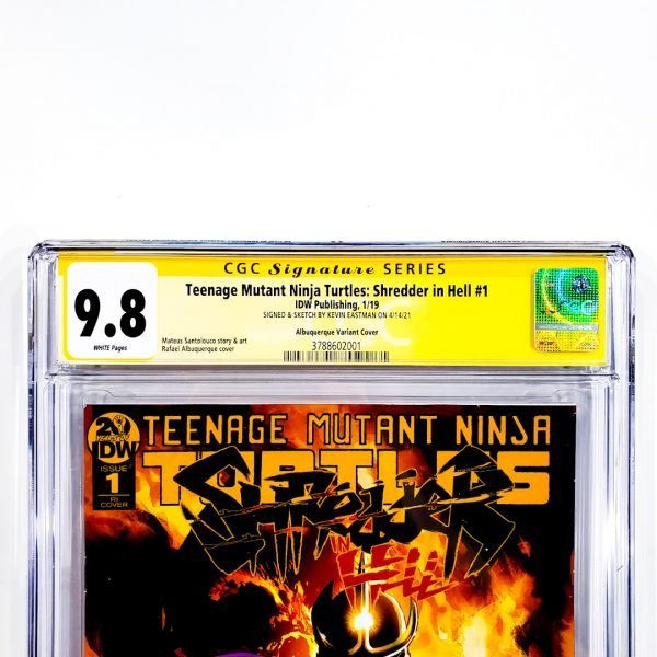 TMNT: Shredder In Hell #1 CGC SS 9.8 NM/M Albuquerque Variant Front Label