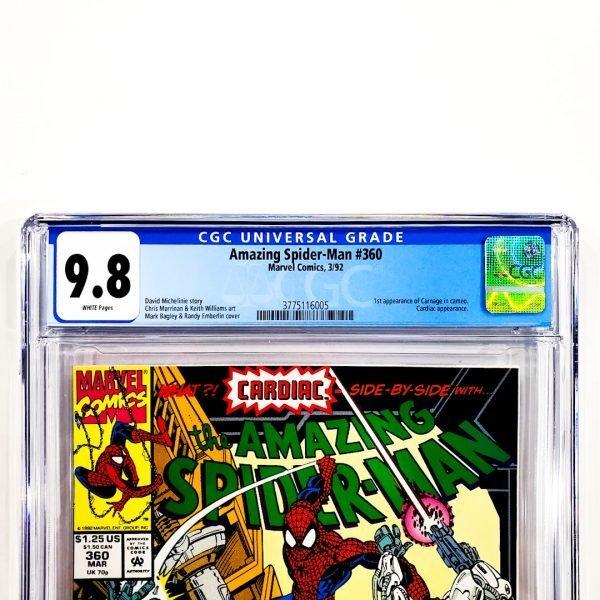 Amazing Spider-Man #360 CGC 9.8 NM/M Front Label