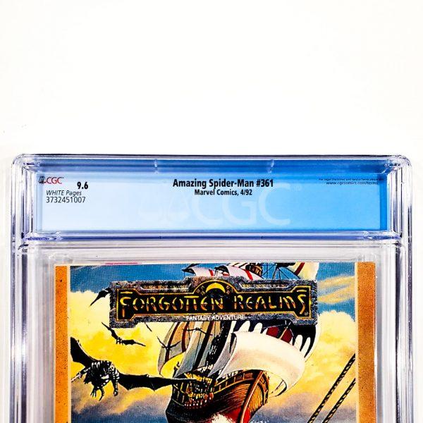 Amazing Spider-Man #361 CGC 9.6 NM+ Newsstand Edition Back Label