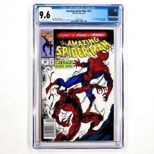 Amazing Spider-Man #361 CGC 9.6 NM+ Newsstand Edition Front