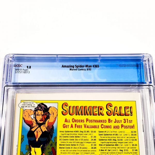 Amazing Spider-Man #365 CGC 9.8 NM/M Back Label