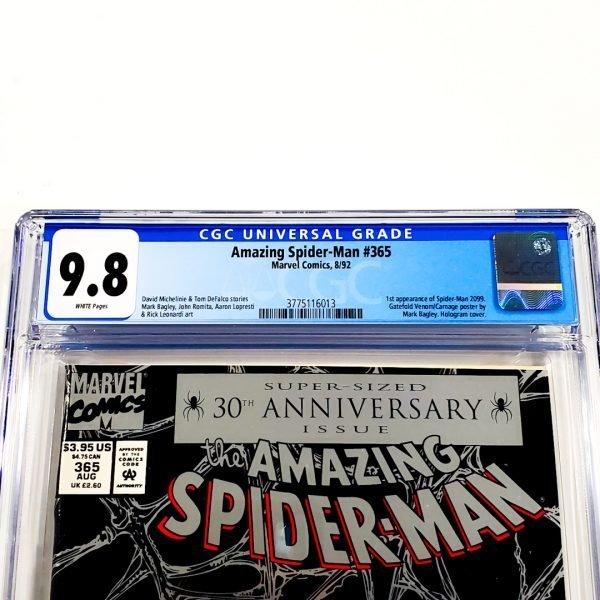 Amazing Spider-Man #365 CGC 9.8 NM/M Front Label