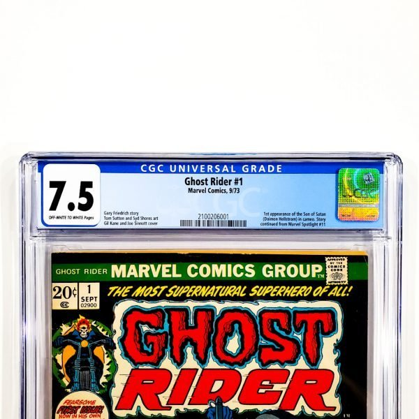 Ghost Rider #1 CGC 7.5 VF- Front Label