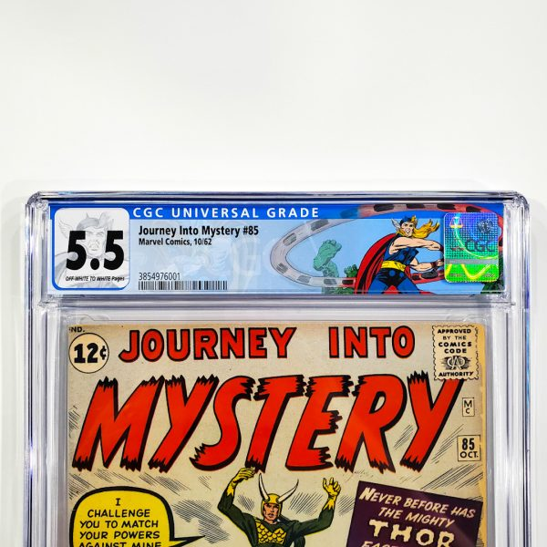 Journey Into Mystery #85 CGC 5.5 FN- Front Label