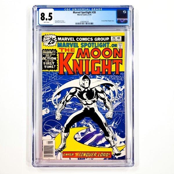 Marvel Spotlight #28 CGC 8.5 VF+ Front