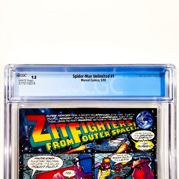 Spider-Man Unlimited #1 CGC 9.8 NM/M Back Label