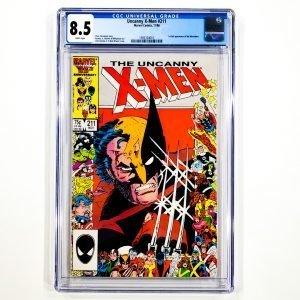 Uncanny X-Men #211 CGC 8.5 VF+ Front