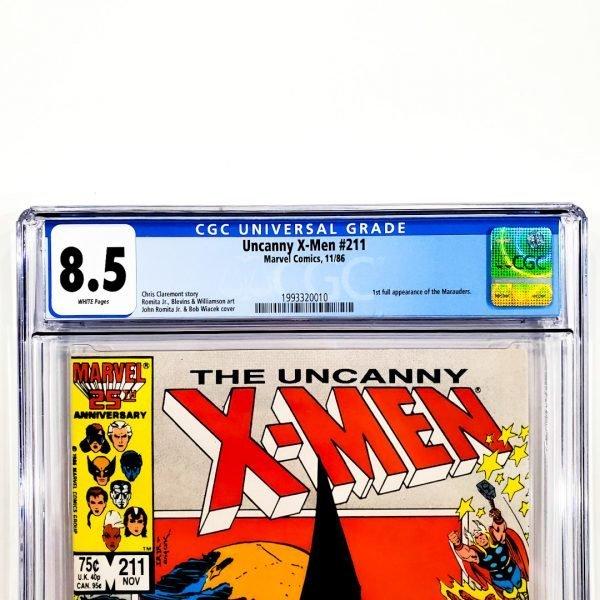 Uncanny X-Men #211 CGC 8.5 VF+ Front Label