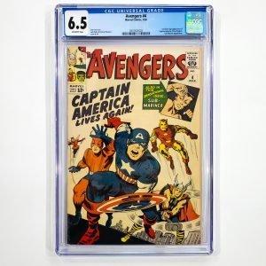 Avengers #4 CGC 6.5 FN+ Front