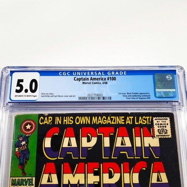 Captain America #100 CGC 5.0 VG/FN Front Label