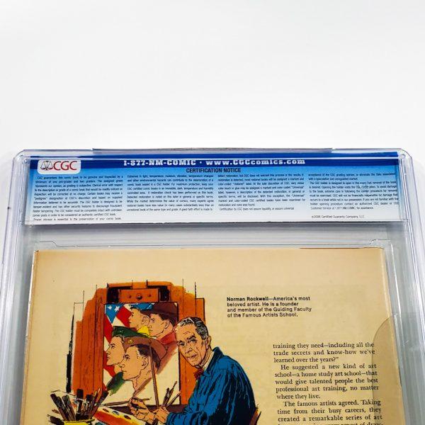 Captain America #100 CGC 8.5 VF+ Back Label