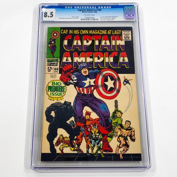 Captain America #100 CGC 8.5 VF+ Front