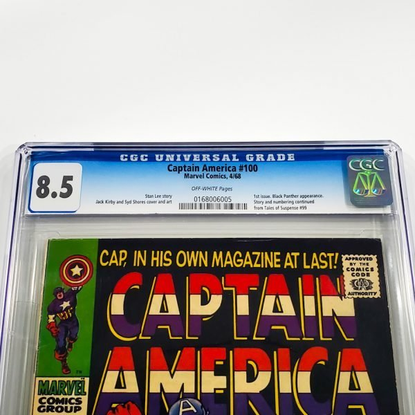 Captain America #100 CGC 8.5 VF+ Front Label