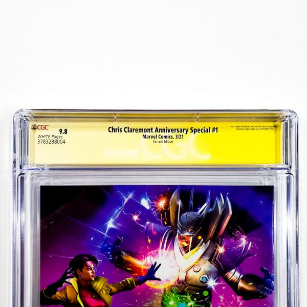 Chris Claremont Anniversary Special #1 CGC SS 9.8 NM/M Variant Back Label