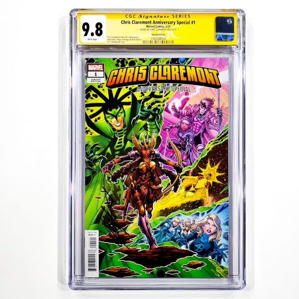 Chris Claremont Anniversary Special #1 CGC SS 9.8 NM/M Variant Front