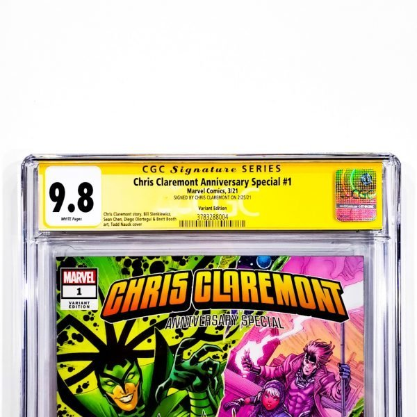 Chris Claremont Anniversary Special #1 CGC SS 9.8 NM/M Variant Front Label