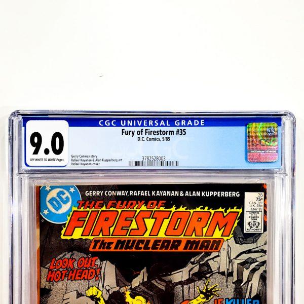 Fury of Firestorm #35 CGC 9.0 VF/NM Front Label