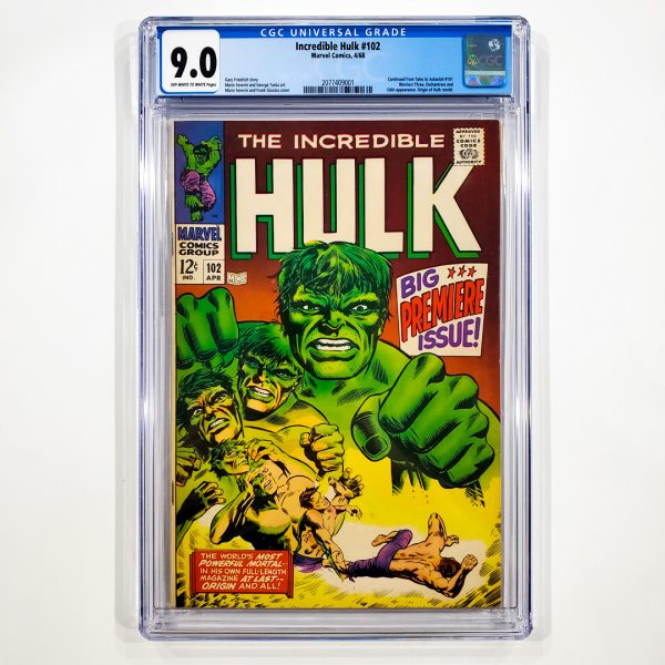 Incredible Hulk #102 CGC 9.0 VF/NM Front
