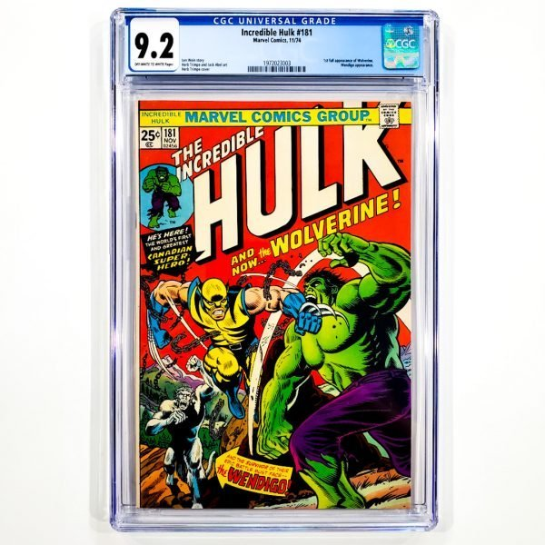 Incredible Hulk #181 CGC 9.2 NM- Front