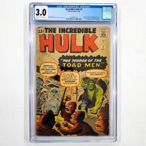 Incredible Hulk #2 CGC 3.0 GD/VG Front