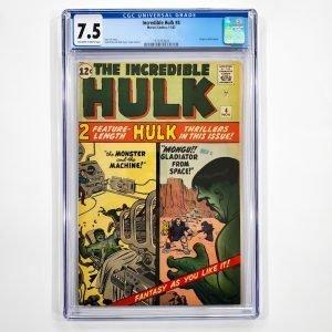 Incredible Hulk #4 CGC 7.5 VF- Front