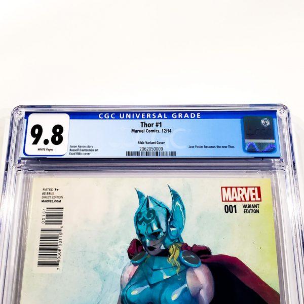 Thor (2014) #1 CGC 9.8 NM/M Ribic Variant Front Label