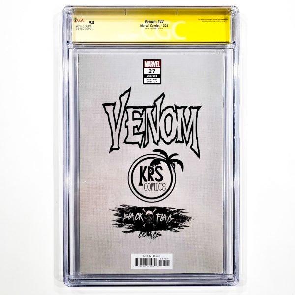 Venom (2018) #27 CGC SS 9.8 NM/M Crain Variant A Back