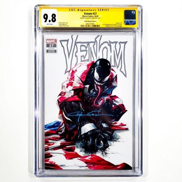 Venom (2018) #27 CGC SS 9.8 NM/M Crain Variant A Front