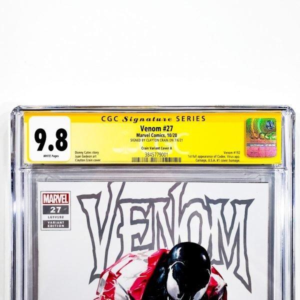 Venom (2018) #27 CGC SS 9.8 NM/M Crain Variant A Front Label