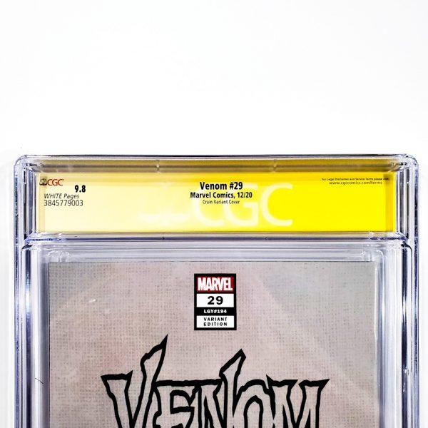 Venom (2018) #29 CGC SS 9.8 NM/M Crain Variant Back Label