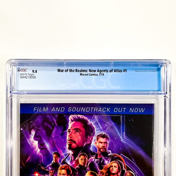 War of the Realms: New Agents of Atlas #1 CGC 9.4 NM Back Label