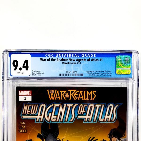 War of the Realms: New Agents of Atlas #1 CGC 9.4 NM Front Label