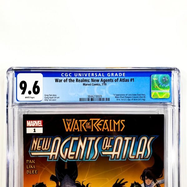 War of the Realms: New Agents of Atlas #1 CGC 9.6 NM+ Front Label