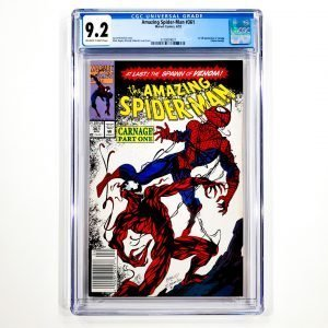 Amazing Spider-Man #361 CGC 9.2 NM- Newsstand Edition Front