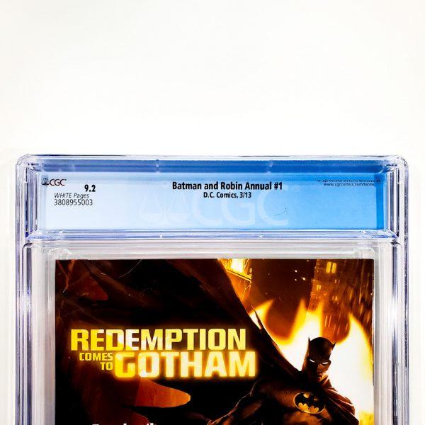 Batman and Robin Annual (Vol. 2) #1 CGC 9.2 NM- Back Label