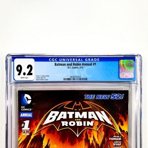 Batman and Robin Annual (Vol. 2) #1 CGC 9.2 NM- Front Label