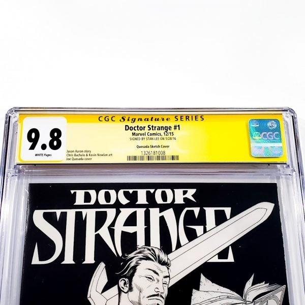 Doctor Strange (2015) #1 CGC SS 9.8 NM/M Quesada Sketch Variant Front Label
