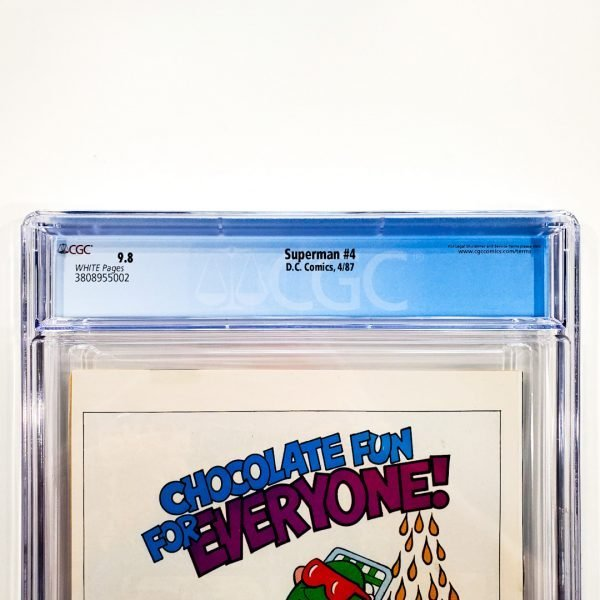 Superman (1987) #4 CGC 9.8 NM/M Back Label