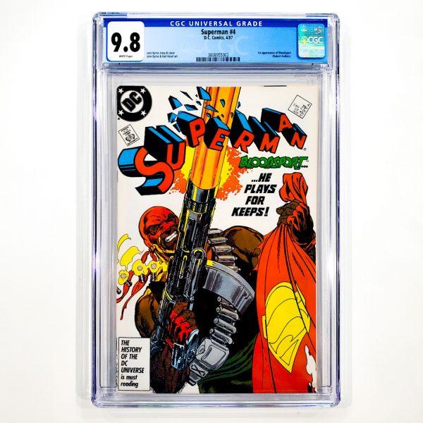 Superman (1987) #4 CGC 9.8 NM/M Front
