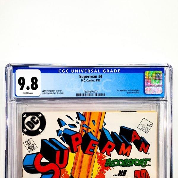 Superman (1987) #4 CGC 9.8 NM/M Front Label