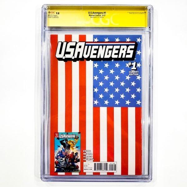 U.S. Avengers #1 CGC SS 9.8 NM/M Washington D.C. Variant Back
