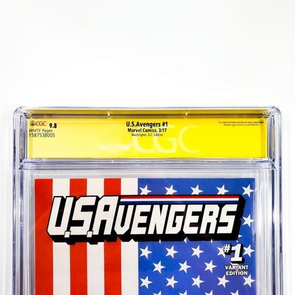 U.S. Avengers #1 CGC SS 9.8 NM/M Washington D.C. Variant Back Label