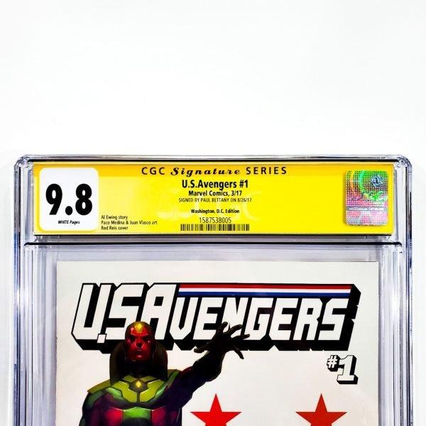 U.S. Avengers #1 CGC SS 9.8 NM/M Washington D.C. Variant Front Label