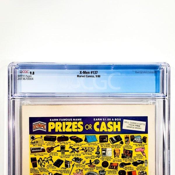 X-Men #137 CGC 9.8 NM/M Back Label